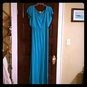Charming Charlie Maxi Dress, Teal, Size Medium